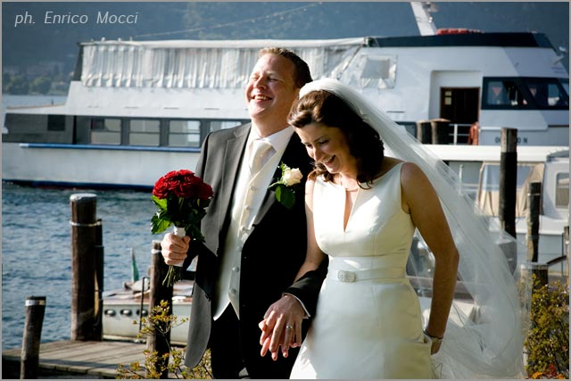 motorboats hire for wedding receptions on Lake Orta Italy