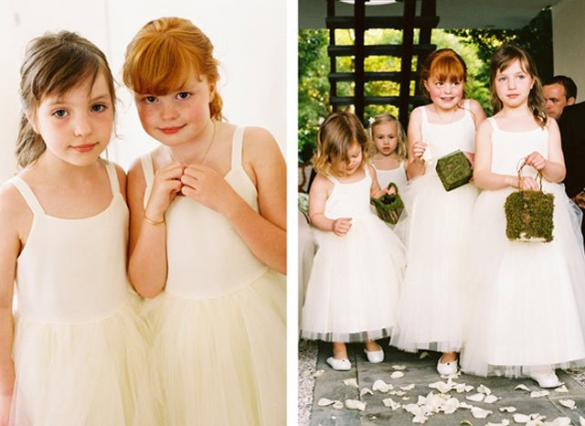 flower girls wedding dresses on Lake Garda Italy