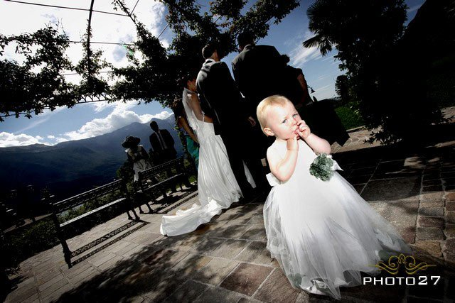 children at the weddings on Lake Garda Italy