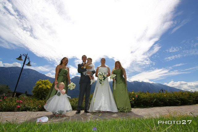 flower girls at the weddings on Lake Garda Italy