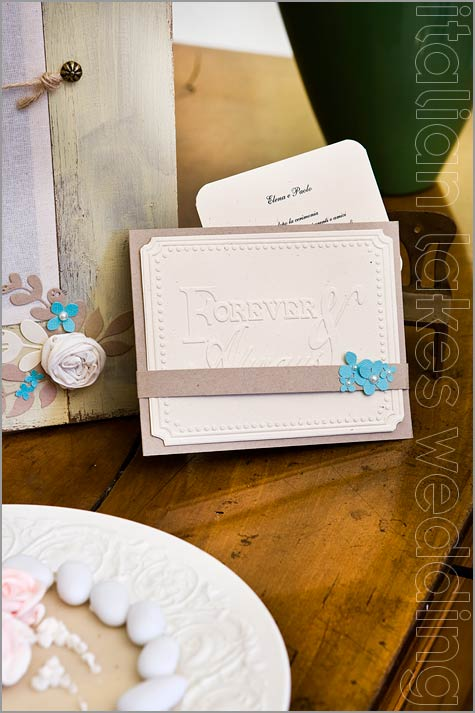 wedding invitation cards shabby chic style in Italy