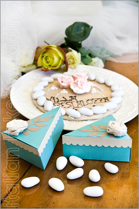 wedding cake shabby chic style in Italy