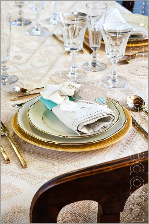 wedding napkins shabby chic style in Italy