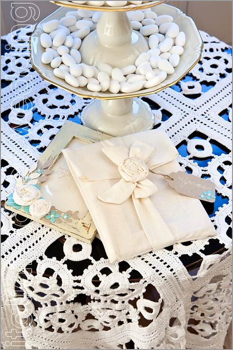 wedding favors shabby chic style in Italy