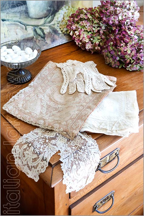 wedding vintage laces shabby chic style in Italy