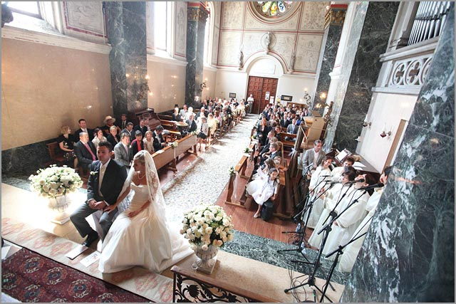 hochzeit in Cadenabbia Kirche Comersee