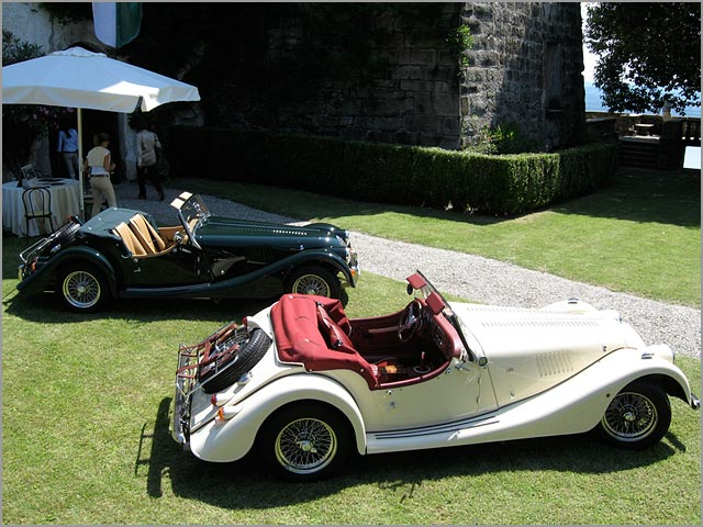 Your Vintage Tour rent Morgan cars for Italian wedding on Lake Maggiore