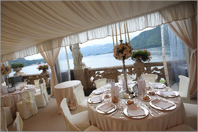 gazebo for weddings at Villa Balbianello