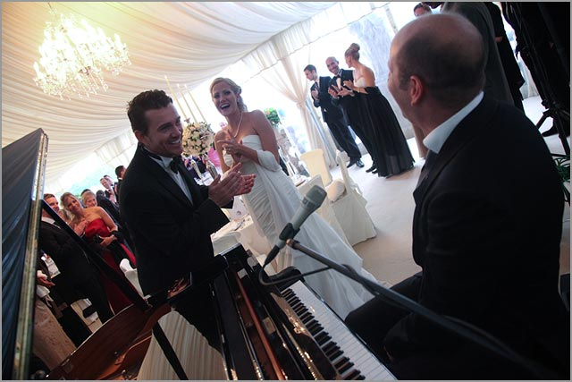 piano player for Villa Balbianello weddings