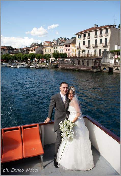 motorboats hire wedding on Lake Orta Italy
