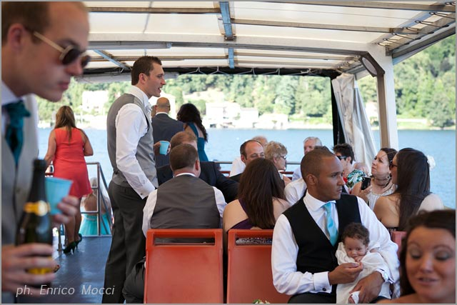 boats hire wedding on Lake Orta Italy