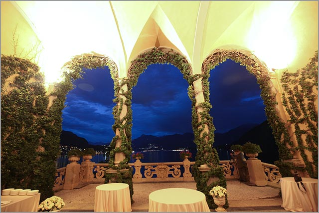 Loggia for weddings at Villa Balbianello