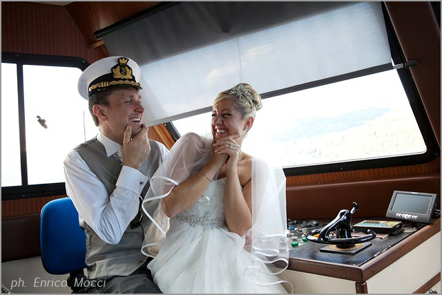 wedding cruise on Lake Orta Italy