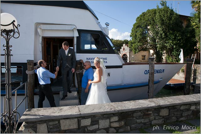 wedding boat cruise on Lake Orta