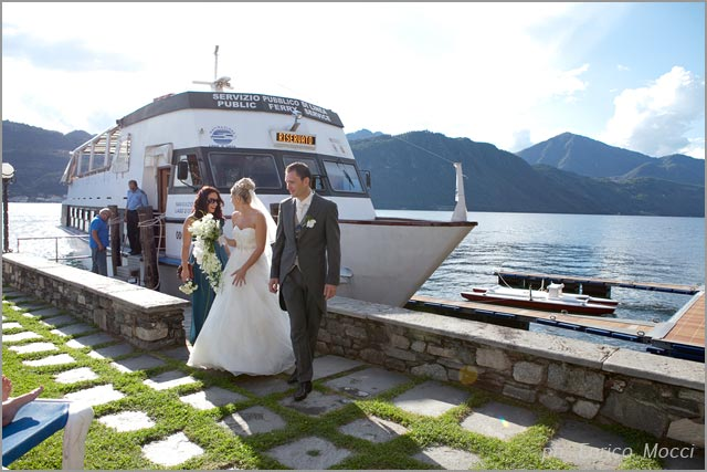 wedding boat cruise on Lake Orta Italy