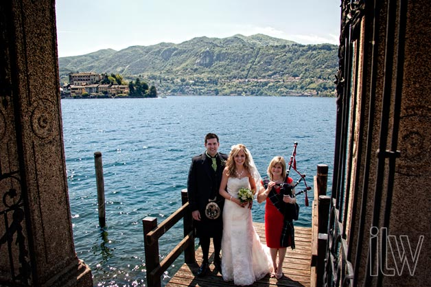 scottish wedding on Lake Orta