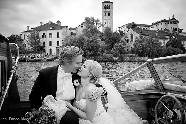 Norwegian wedding on Lake Orta Italy