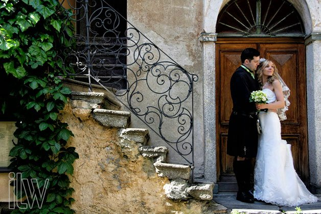 scottish wedding on Lake Orta Italy