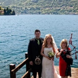 Just Married! Susie and Michael... another wonderful Scottish wedding on Lake Orta