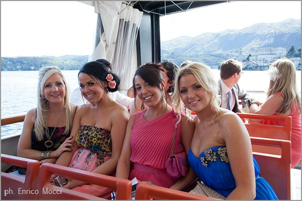 boats hire for wedding cruises on Lake Orta