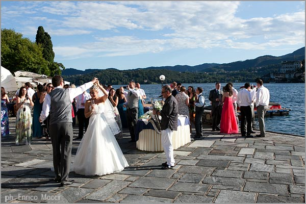 cocktail party by the lake Orta