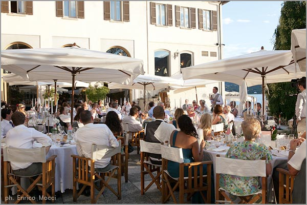 outdoor wedding dinner at San Rocco Hotel