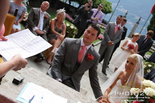 wedding at Villa Bossi Lake Orta