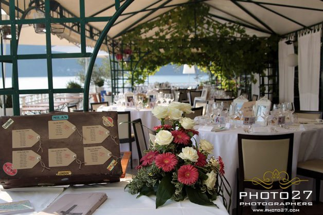 wedding dinner at Hotel restaurant Giardinetto Lake Orta