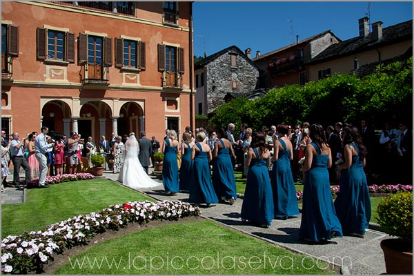 civil wedding ceremony at Villa Bossi