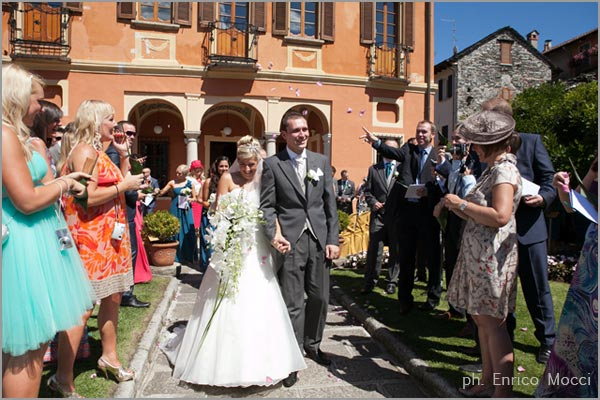 civil wedding ceremony at Villa Bossi Lake Orta