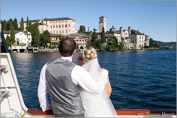 boats rental for wedding cruises on Lake Orta