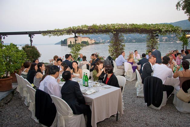 wedding reception at Verbano restaurant Lake Maggiore