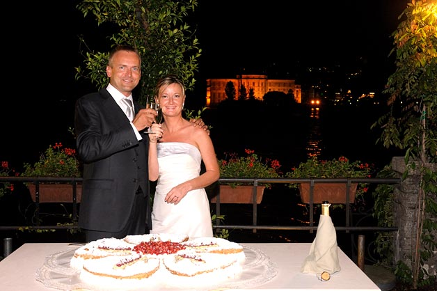 wedding reception at Verbano hotel Lake Maggiore