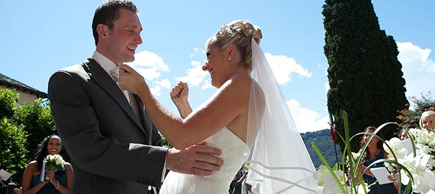 Charlotte and Steven, an unforgettable day on Lake Orta