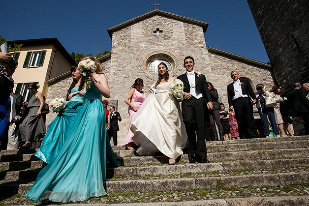 religious wedding ceremony at Varenna church