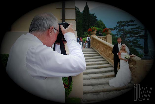 wedding ceremony at Villa Balbianello