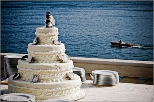 wedding cake at Grand Hotel Majestic in Pallanza