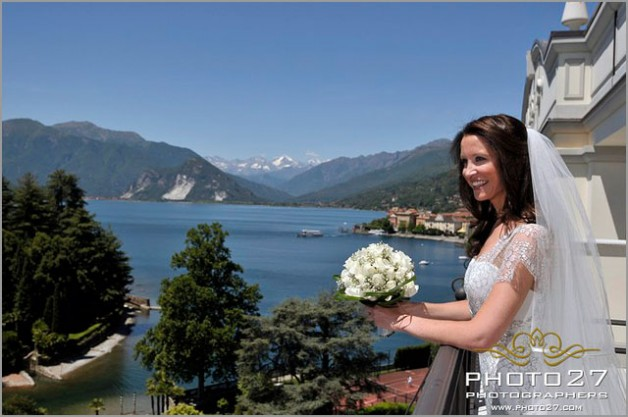 lake shores wedding at Grand Hotel Majestic in Pallanza