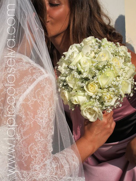 wedding on Isola Bella, the bridal bouquet