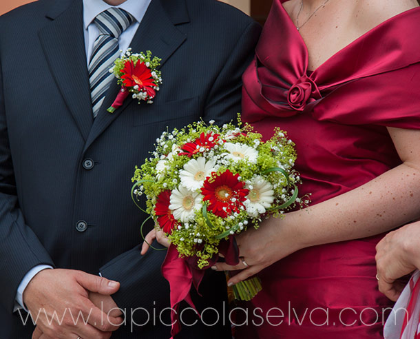 bridal bouquet with gerberas
