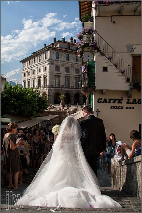 wedding ceremony at church of Isola Bella