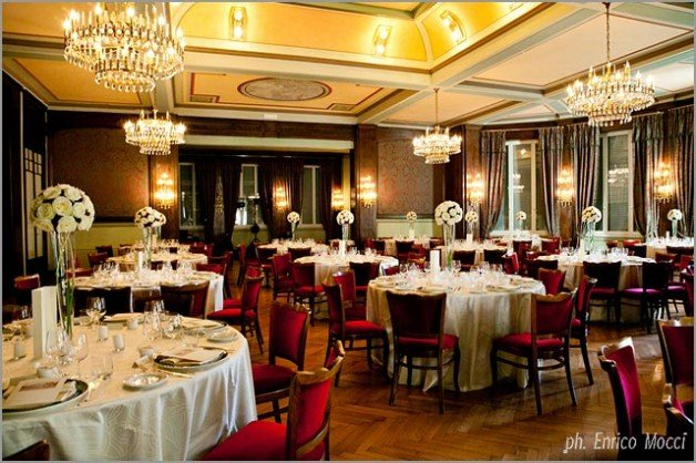 wedding dinner at Hotel Majestic in Pallanza Lake Maggiore