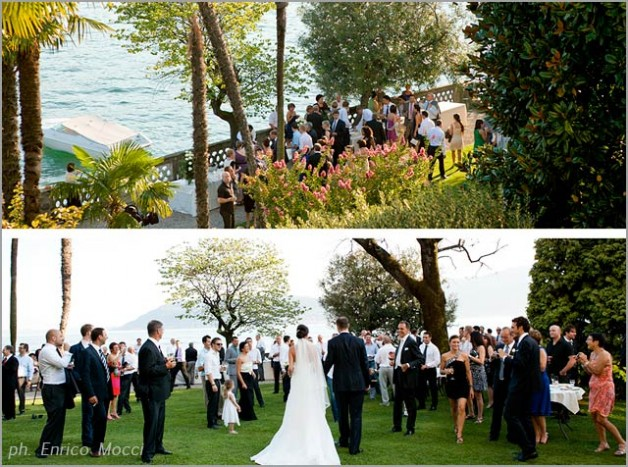 outdoor wedding at Hotel Majestic Lake Maggiore