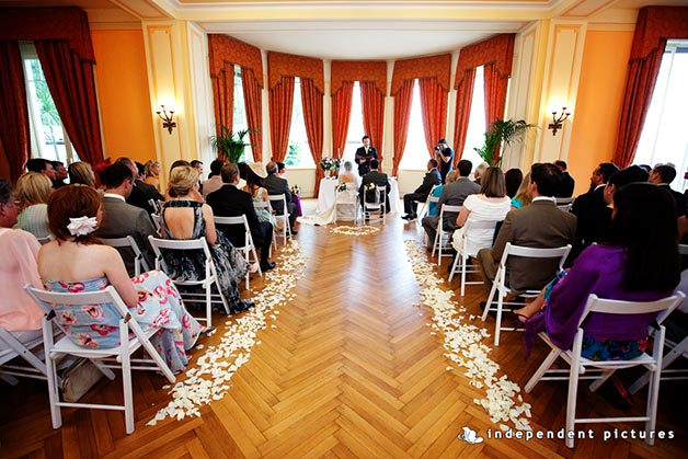 wedding ceremony at Grand Hotel Majestic