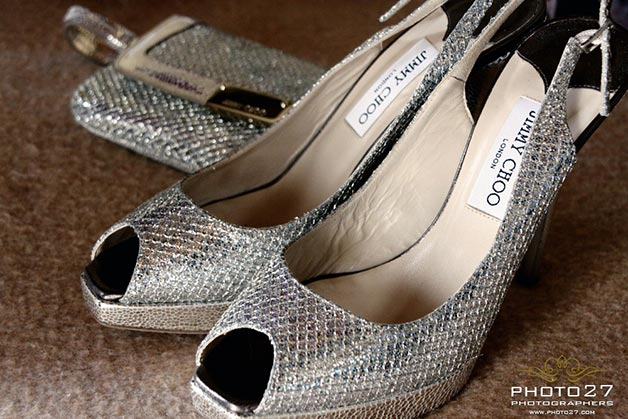 Jimmy Choo shoes for wedding in Italy