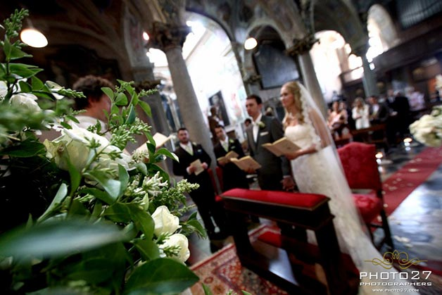 weddings at church of Assunta in Orta