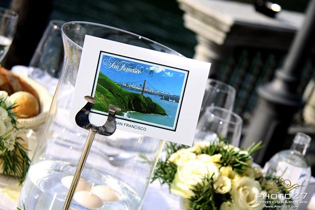 postcards table names by Lake Orta wedding planner