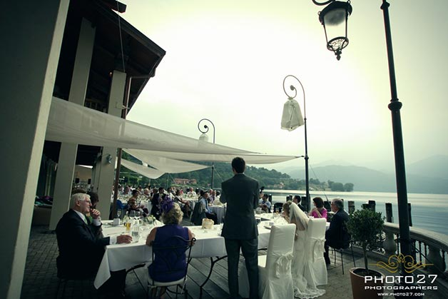 wedding reception to Orta Beach Club Lake Orta