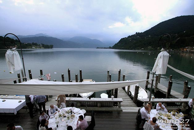 beach wedding on Lake Orta