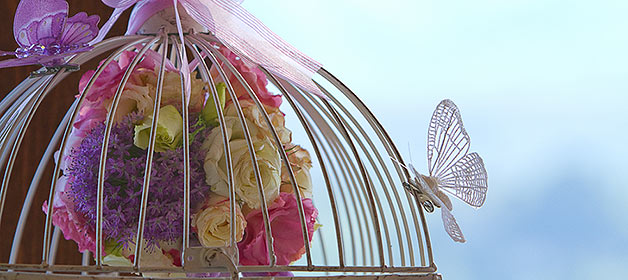 Butterflies for a romantic vintage and shabby chic themed wedding